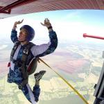 Výskok z letadla metodou IAD