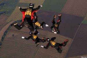 Formation Skydiving 4way
