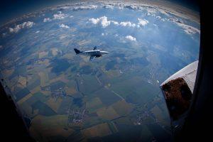 Pohled na letadlo